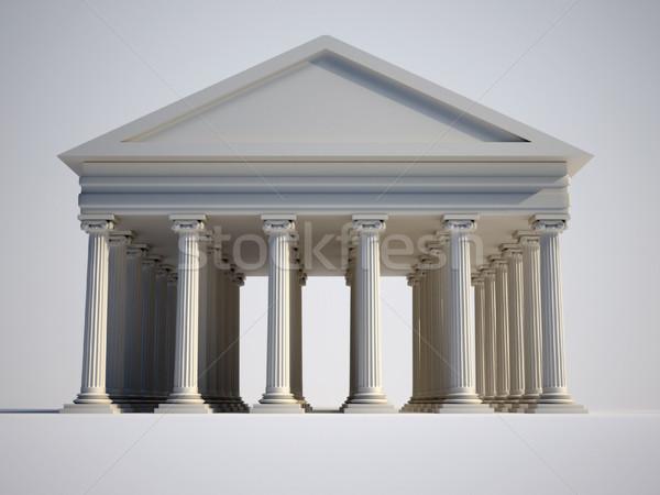 Romano edifício iônico estilo colunas 3d render Foto stock © orla