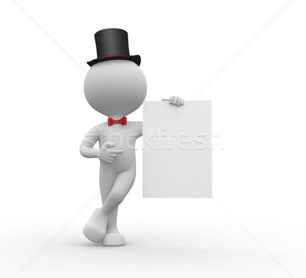 Blanche papier gens 3d hommes personne Photo stock © orla