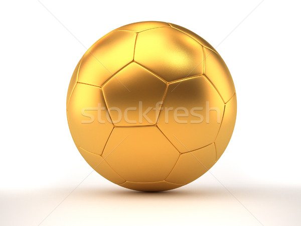 Golden football Stock photo © orla