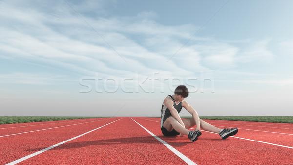 Athlete defeated the runway.  Stock photo © orla