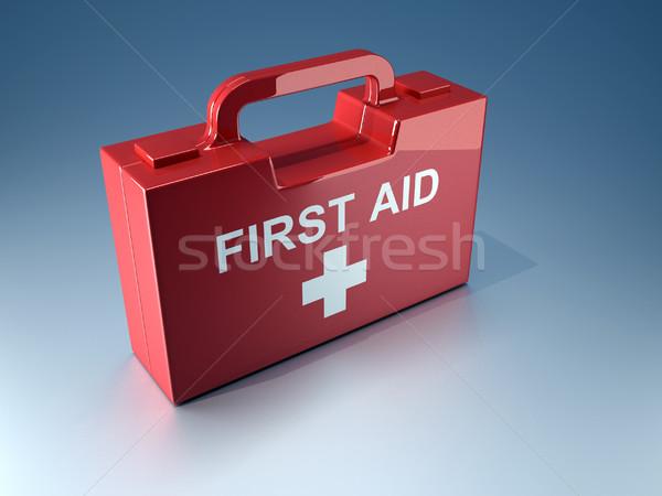Ilk yardım kutu 3d render örnek doktor tıbbi Stok fotoğraf © orla