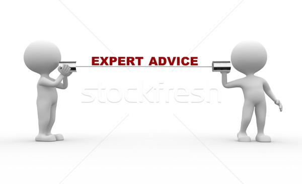 Stock photo: Expert advice