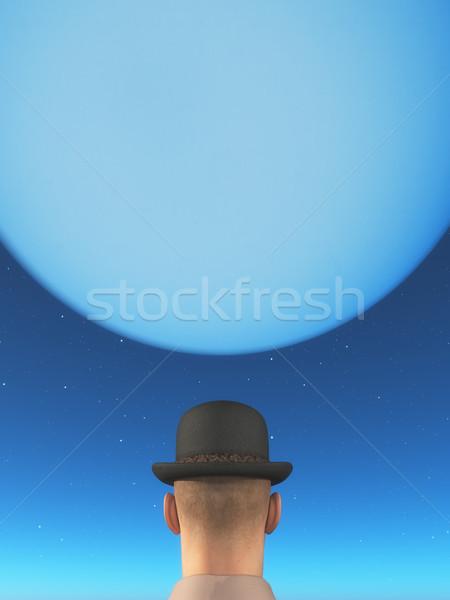 Man looks back month Stock photo © orla
