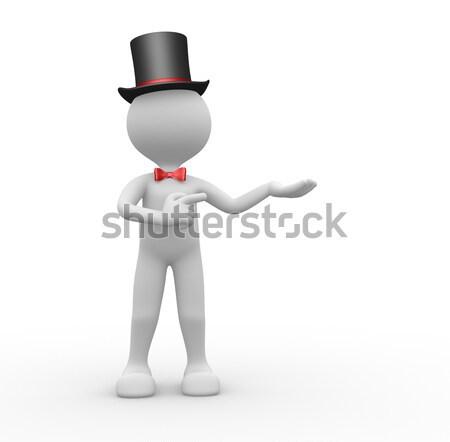 Cavalheiro 3d pessoas homem pessoa seis moda Foto stock © orla