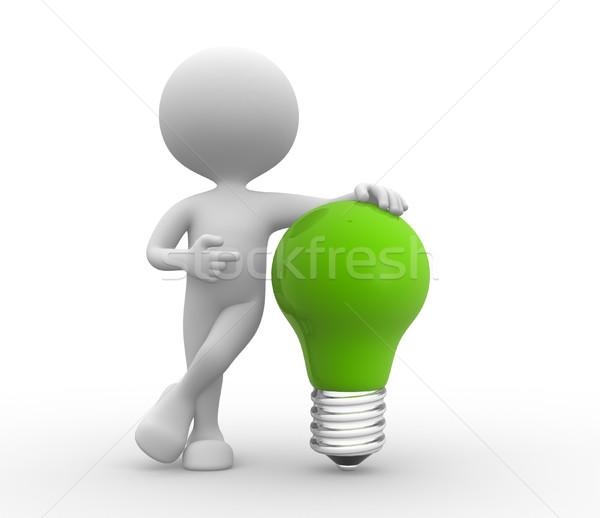 Green light bulb Stock photo © orla