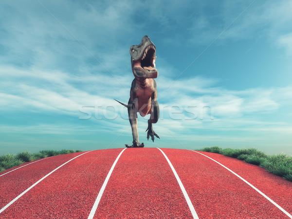 A dinosaur running  Stock photo © orla