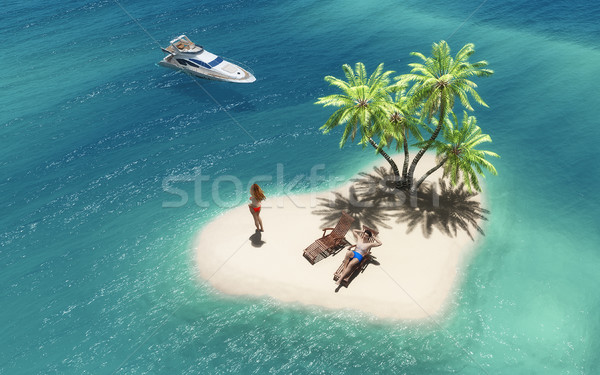 Summer tropical paradise  Stock photo © orla