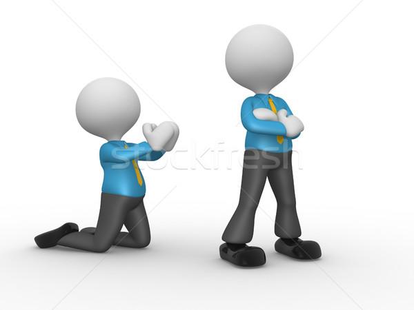 Biznesmen 3d osób mężczyzn osoby zły pojednanie Zdjęcia stock © orla