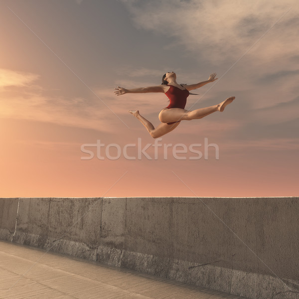 Portrait of the girl-gymnast  Stock photo © orla