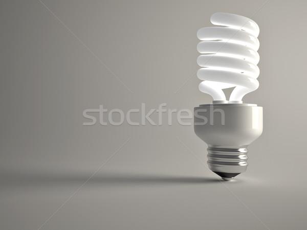 Tl gloeilamp 3d render illustratie licht Stockfoto © orla