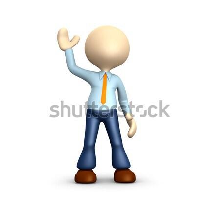 Alo oameni 3d om persoană afaceri mână Imagine de stoc © orla