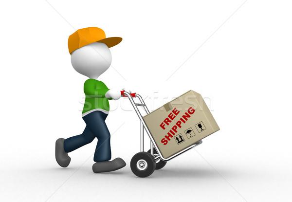 3d люди человека человек стороны грузовика пакеты Сток-фото © orla