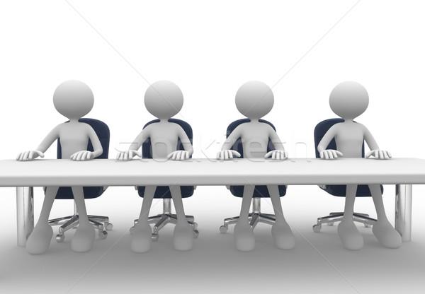 会議 3次元の人々 男性 人 会議 表 ストックフォト © orla
