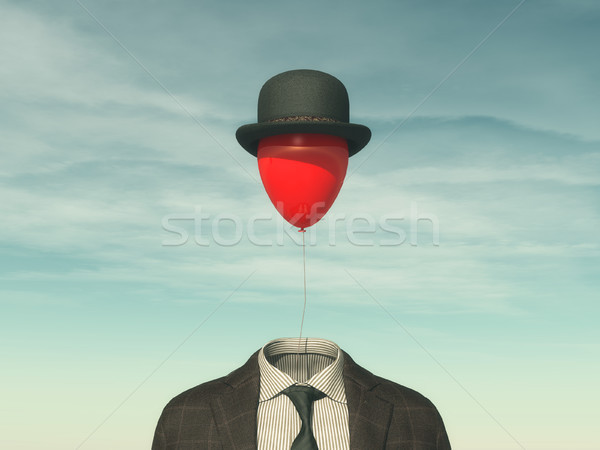 Man with a red balloon Stock photo © orla