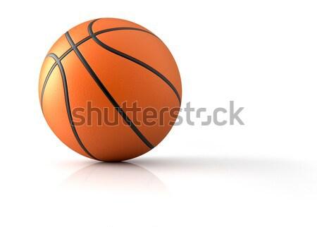 Kosárlabda közelkép 3d render illusztráció sportok fehér Stock fotó © orla
