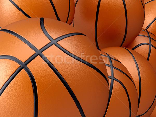 Basketbal 3d render illustratie sport witte spelen Stockfoto © orla