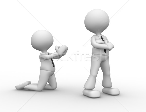 3d osób mężczyzn osoby zły pojednanie komunikacji Zdjęcia stock © orla
