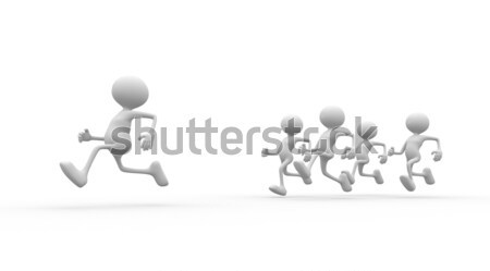 Jogging gens 3d hommes personne courir fitness Photo stock © orla