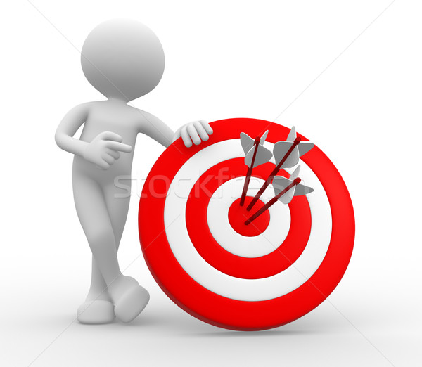 3d man, with a target and arrows  Stock photo © orla