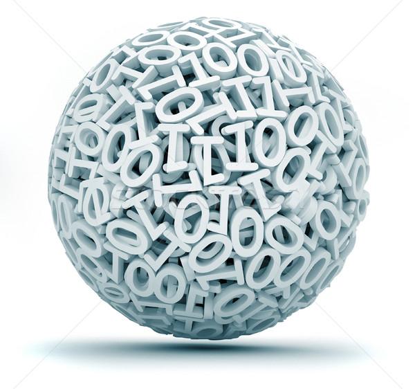 Esfera zero um código 3d render ilustração Foto stock © orla