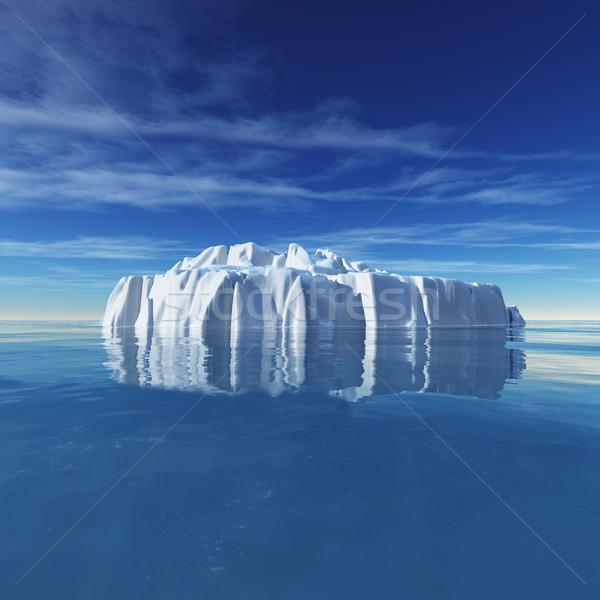 Vízalatti kilátás jéghegy gyönyörű átlátszó tenger Stock fotó © orla