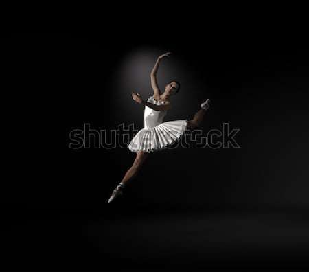 Young and beautiful ballerina with white tutu Stock photo © orla