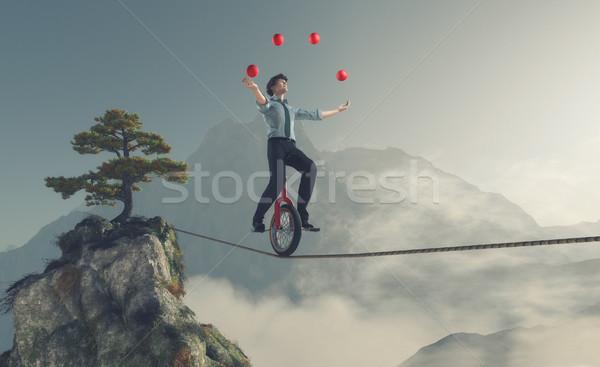 Young man as juggler  Stock photo © orla