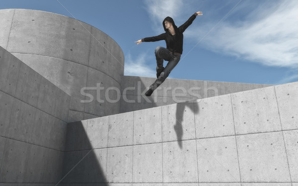 Young man modern dancer Stock photo © orla