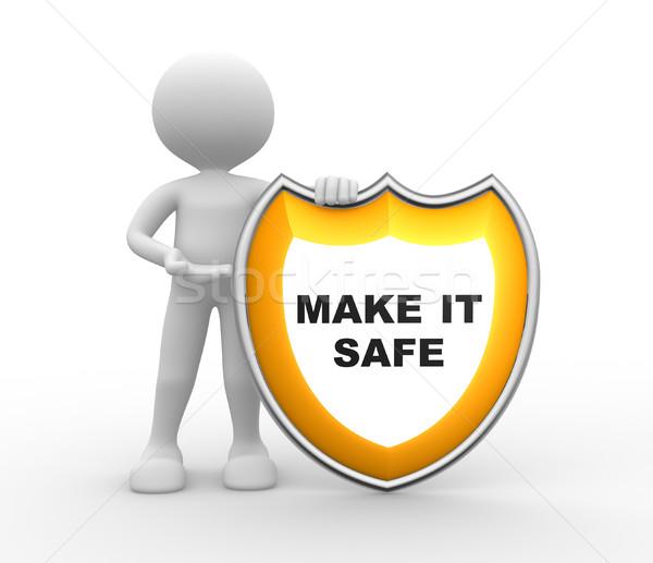 Shield. Make it safe  Stock photo © orla