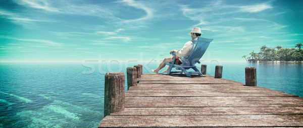 Man sitting in a chair  Stock photo © orla