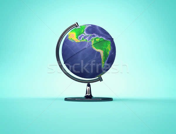 Desk Earth globe with American continents side Stock photo © orla