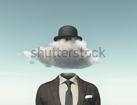 Businessman with a question mark Stock photo © orla