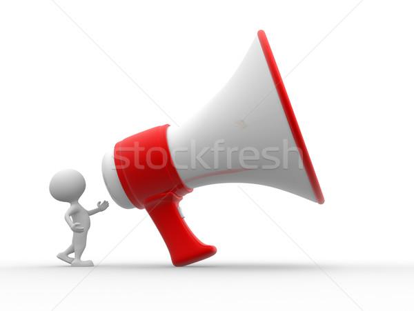 Big megaphone Stock photo © orla