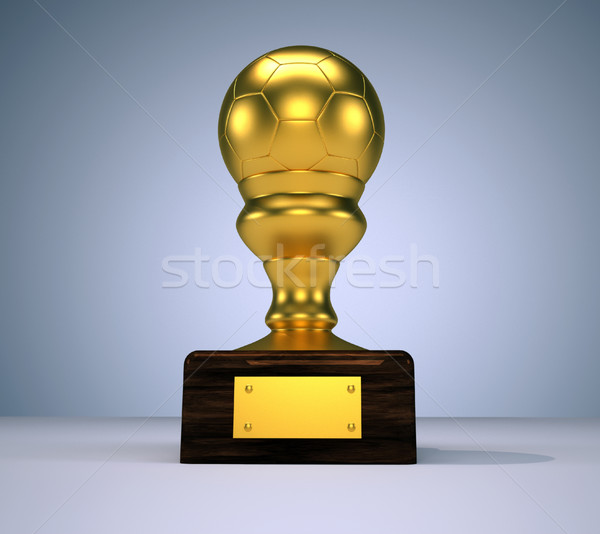 トロフィー 3dのレンダリング 実例 サッカー ボール ストックフォト © orla