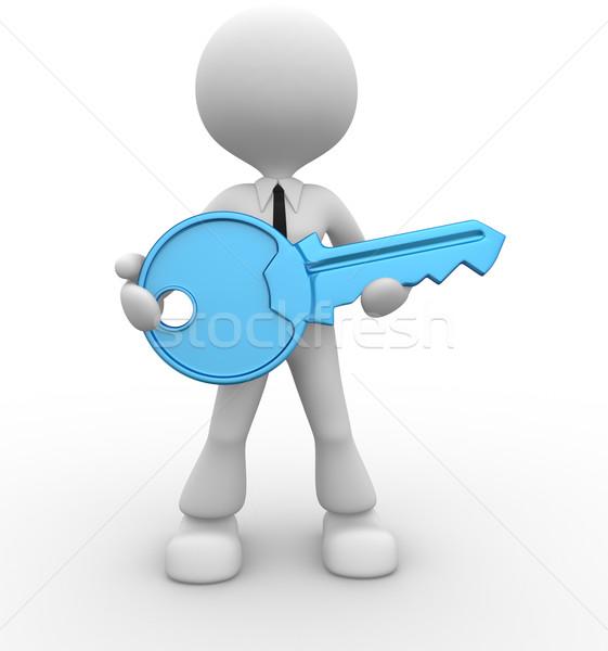 Zdjęcia stock: Kluczowych · 3d · osób · człowiek · osoby · strony · działalności