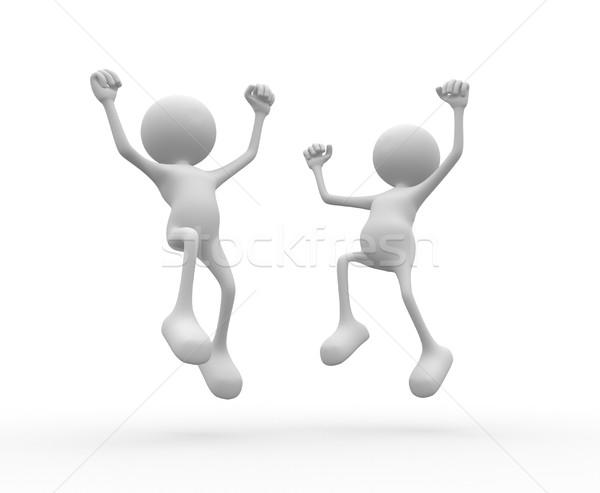 Heureux gens 3d homme personne succès affaires Photo stock © orla