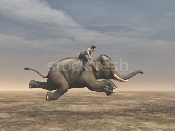 Surreal image of a man Stock photo © orla
