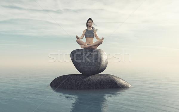 The woman practicing yoga  Stock photo © orla