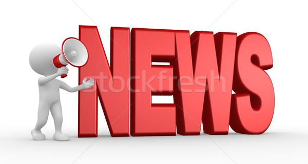 News concept and a megaphone Stock photo © orla