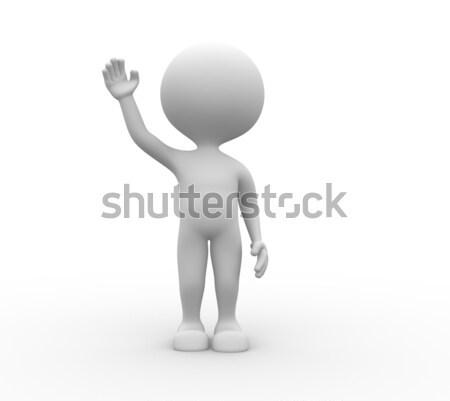 3d man salute  Stock photo © orla