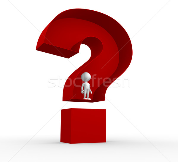 Big question mark Stock photo © orla