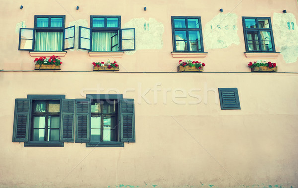 Old house with wooden shutters  Stock photo © orla