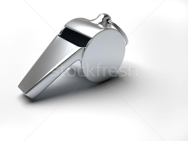 свистеть серебро белый 3d визуализации иллюстрация Сток-фото © orla