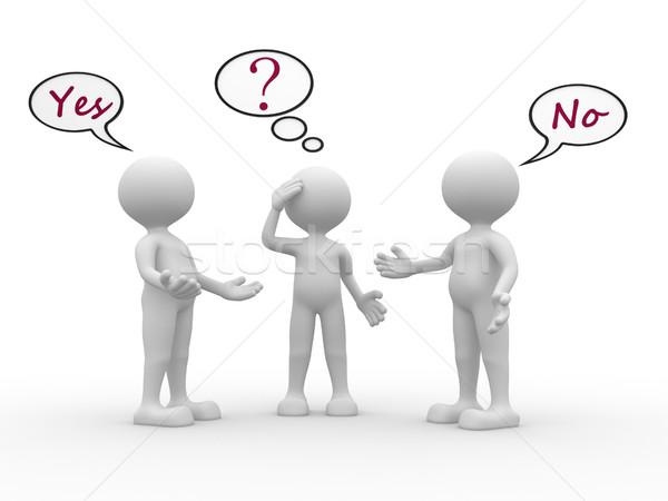 Confusi la gente 3d uomini persona testo Foto d'archivio © orla