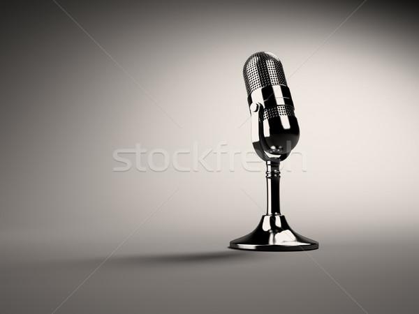 Retro microphone Stock photo © orla