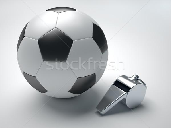 Futbol ıslık 3d render örnek arka plan top Stok fotoğraf © orla