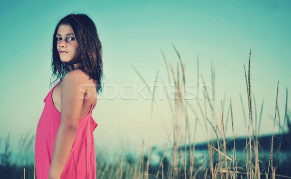 Young girl in nature  Stock photo © orla