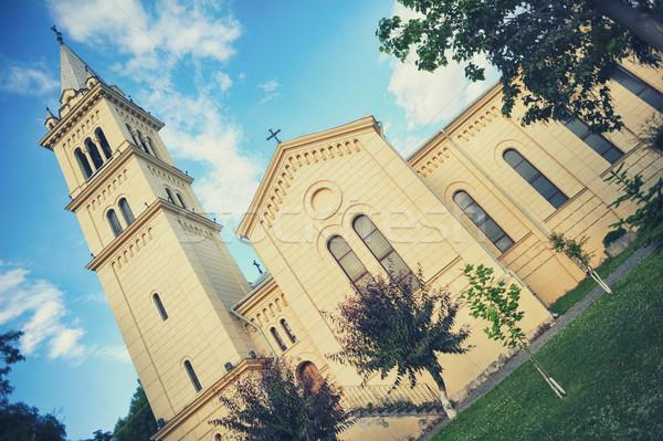 St. Joseph's Roman Catholic Cathedral in Sighisoara Stock photo © orla