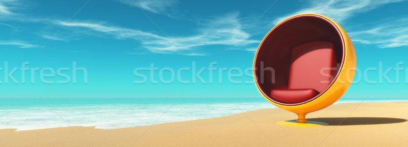 Beach chair on the beach. Stock photo © orla