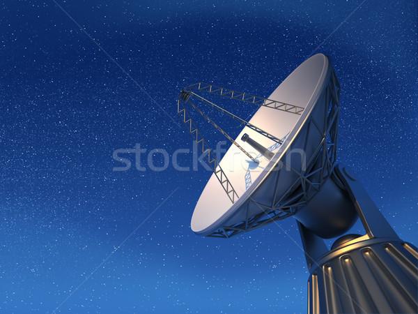 Radio telescope Stock photo © orla